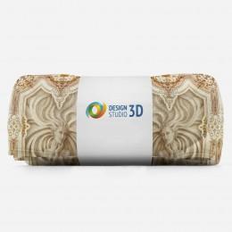 3D плед «Рельефные девушки с орнаментом»