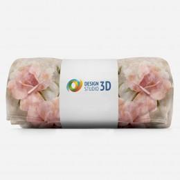 3D плед «Объемные розы под мрамор»