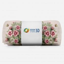 3D плед «Объемные букеты в вазах»