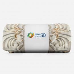 3D плед «Барельеф девушки с золотом»