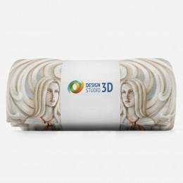 3D плед «Барельеф с нимфами»