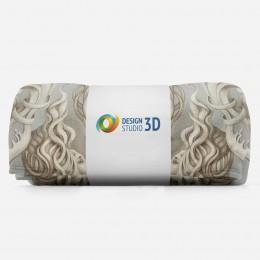 3D плед «Барельеф с русалками»