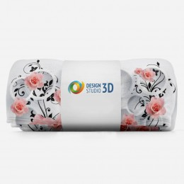 3D плед «Бутоны роз над водой»
