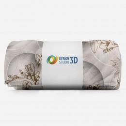 3D плед «Объемные круги с цветочным узором»