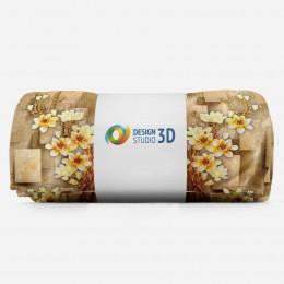 3D плед «Объемные китайские вазы»