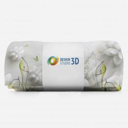 3D плед «Зеленые каллы»