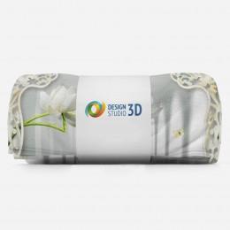 3D плед «Тоннель с лотосами»