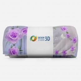 3D плед «Тоннель с розами»