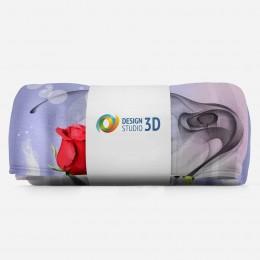 3D плед «Красная роза в тоннеле»