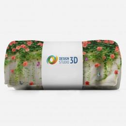 3D плед «Тоннель с лианами роз»