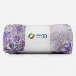 3D плед «Ювелирные фиолетовые цветы»