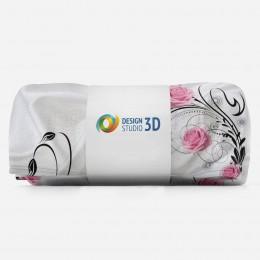 3D плед «Розы на шелке»