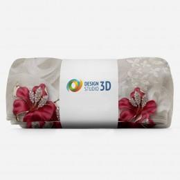 3D плед «Драгоценные лилии»