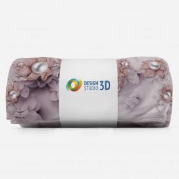 3D плед «Драгоценные цветы с жемчугом»