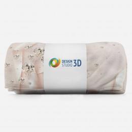 3D плед «Сияющие бриллианты на шелковом фоне»