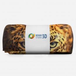 3D плед «Леопард портрет»