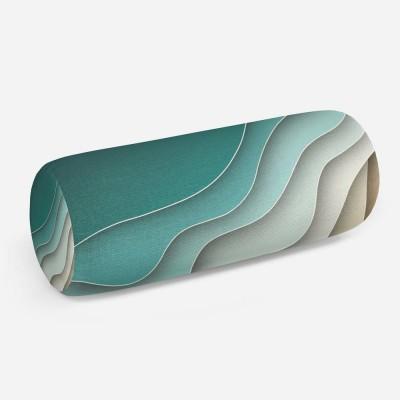 3D подушка-валик «Волнистый узор»
