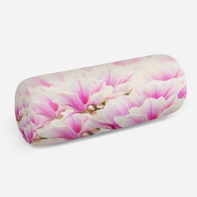 3D подушка-валик «Цветы магнолии»