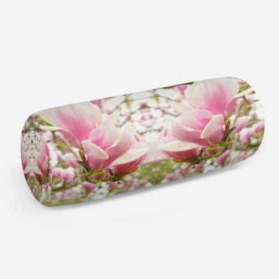 3D подушка-валик «Цветущая магнолия»