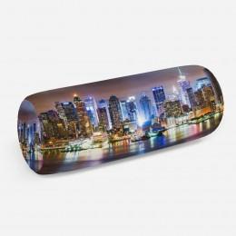3D подушка-валик «Ночной город»