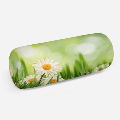 3D подушка-валик «Ромашки в траве»