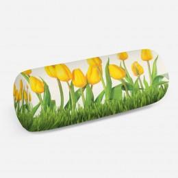 3D подушка-валик «Желтые тюльпаны»