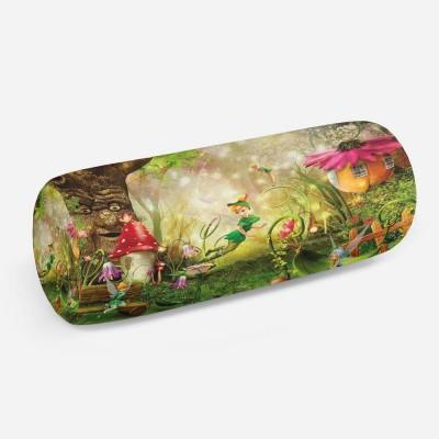 3D подушка-валик «Феечки в сказочном лесу»
