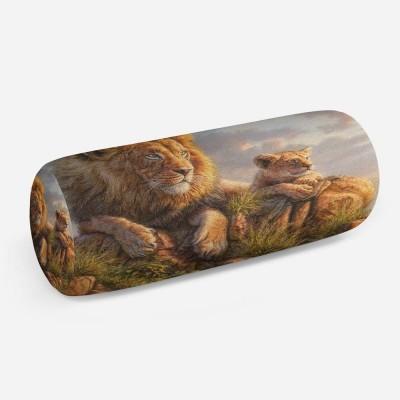 3D подушка-валик «Величественные львы»