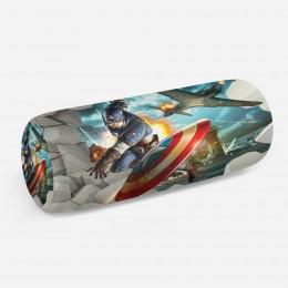 3D подушка-валик «Капитан Америка»