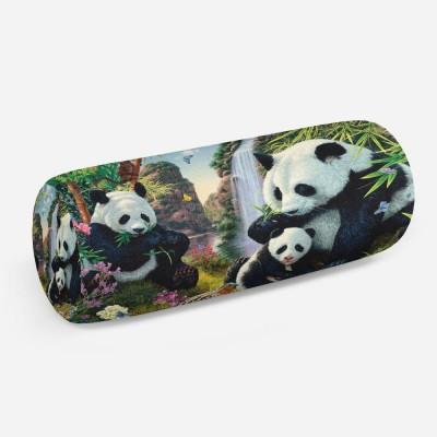 3D подушка-валик «Семейство панд»