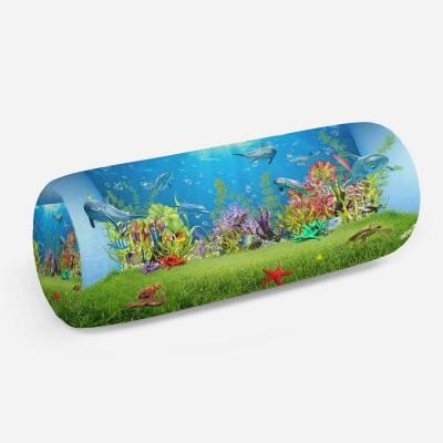 3D подушка-валик «Газон под водой»