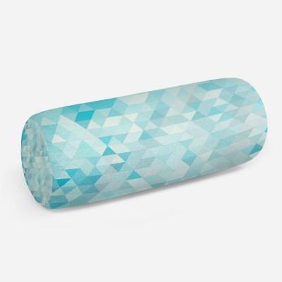 3D подушка-валик «Морские треугольники»