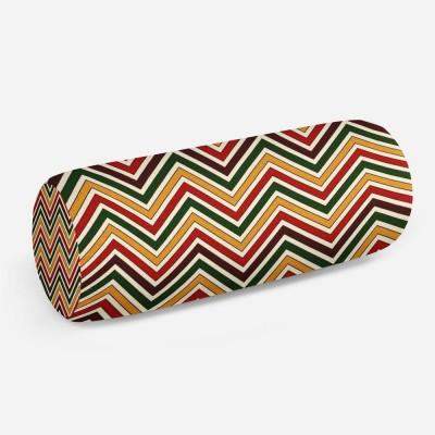 3D подушка-валик «Красно-коричневое этно»