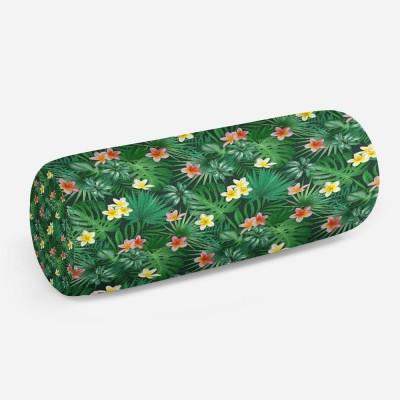 3D подушка-валик «Магнолия в ярких тропиках»