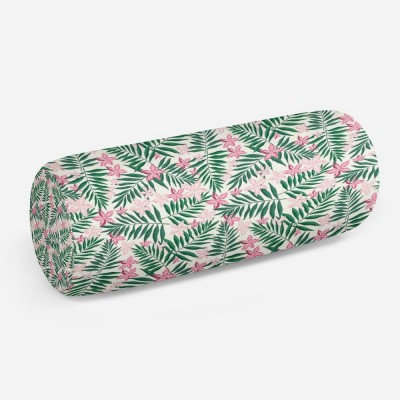 3D подушка-валик «Нежность в тропическом саду»
