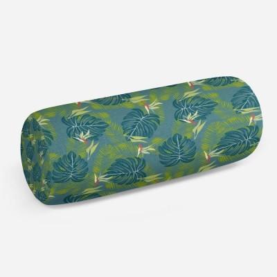 3D подушка-валик «Папоротник в благородных тонах»