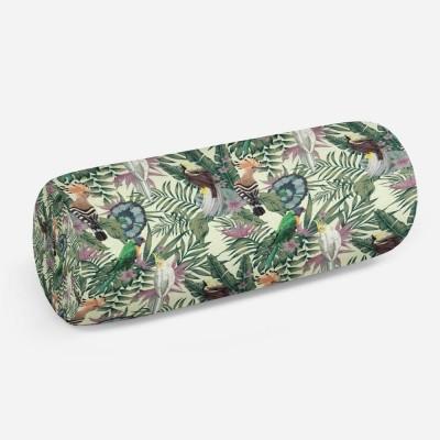 3D подушка-валик «Райские птицы в саду»
