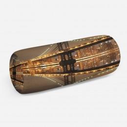 3D подушка-валик «Бруклинский мост: отражение в реке Гудзон»