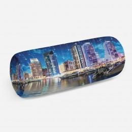3D подушка-валик «Звездопад над ночным городом»