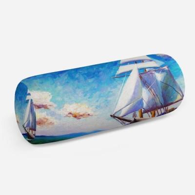 3D подушка-валик «Корабль маслом»