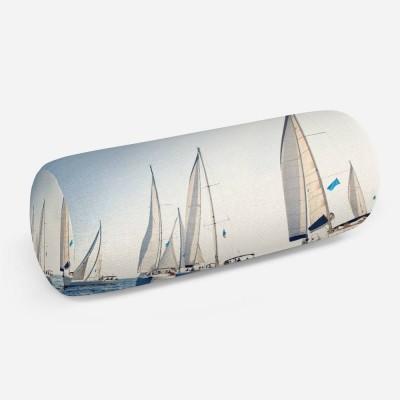 3D подушка-валик «Парусные яхты»