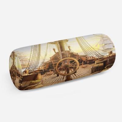 3D подушка-валик «Штурвал пиратского корабля»