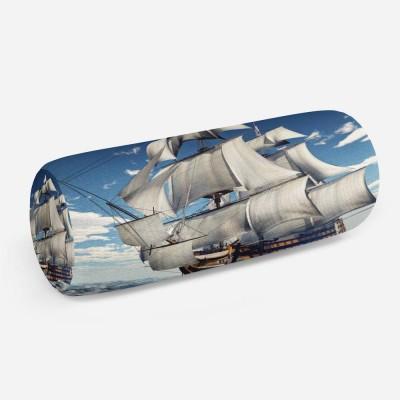 3D подушка-валик «Старый английский парусник»