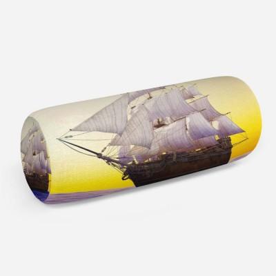 3D подушка-валик «Старый корабль в открытом океане»