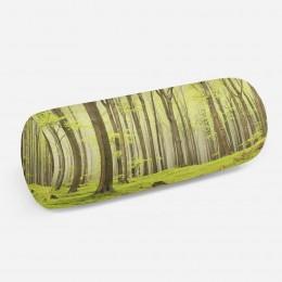 3D подушка-валик «Зеленый лес»