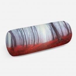 3D подушка-валик «Осенний лес в тумане»