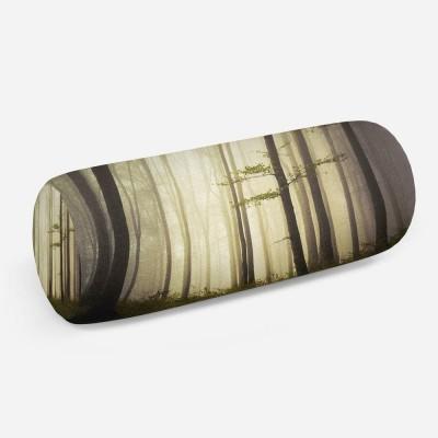 3D подушка-валик «Туман в мистическом лесу»