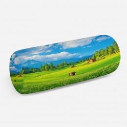 3D подушка-валик «Деревня в альпийской долине»