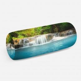3D подушка-валик «Водопад с голубой водой»