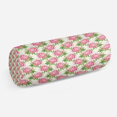 3D подушка-валик «Розовые пионы»
